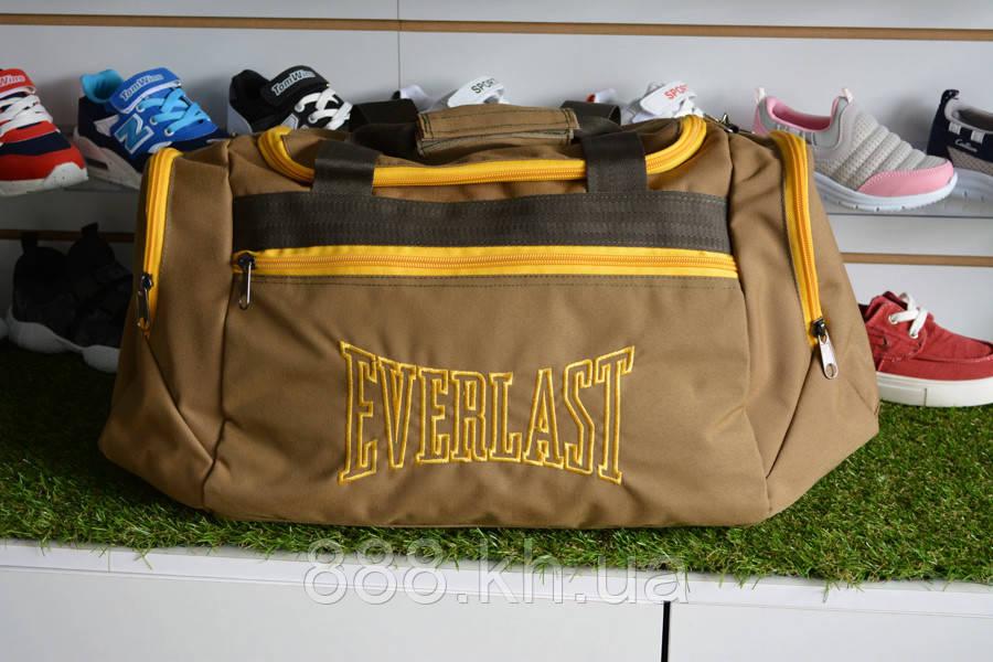 Спортивная сумка Everlast, мужская сумка для тренировок желтая, копия