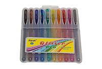 Ручки гелевые с блеском и запахом, в пластиковом футляре, 10 штук, 1 мм