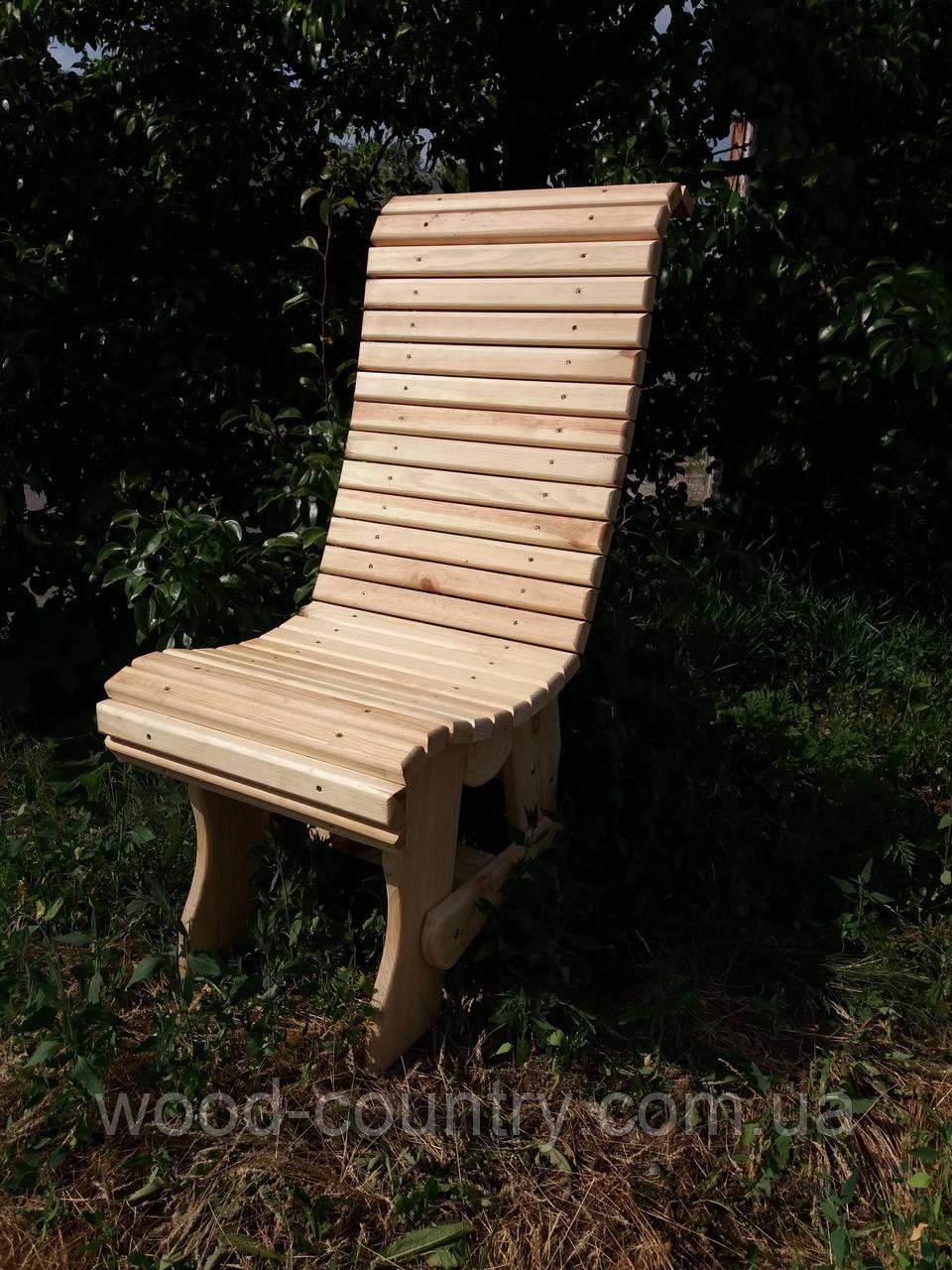 Деревянный стул со спинкой с реек исполнение №1