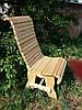 Деревянный стул со спинкой с реек исполнение №1, фото 4