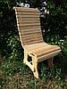 Деревянный стул со спинкой с реек исполнение №1, фото 5