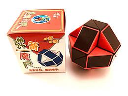 Головоломка Змейка Рубика красно-черная ShengShou