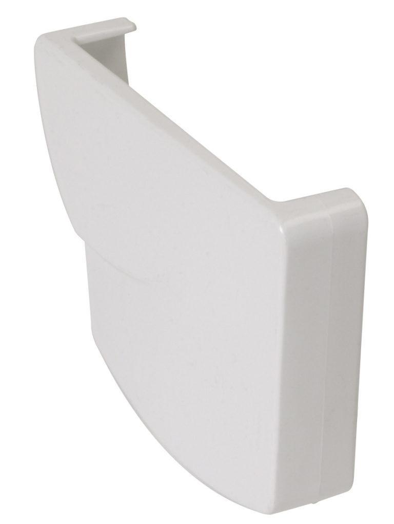 Заглушка жёлоба Nicoll Ovation правая, система 28 Овация, цвет белый