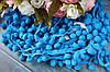 Тесьма с помпонами, 15 мм, бирюзового цвета оптом