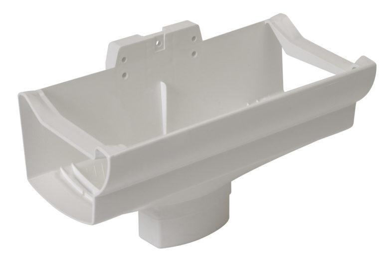 Воронка компенсирующая Nicoll Ovation, система 28 Овация, с прямоугольным выпуском D90-56, цвет белый