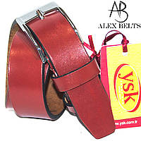 Ремень детский кожаный красный ( Турция ) 30 мм - купить оптом в Одессе