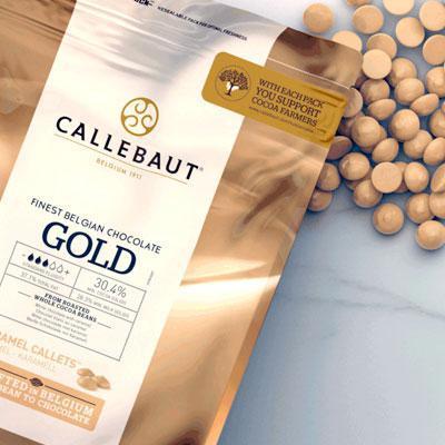 """Бельгийский Белый шоколад с карамелью, """"Callebaut Gold"""", 1 кг"""