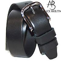Ремень подростковый кожаный гладкий черный ( Вознесенск ) 30 мм - купить оптом в Одессе