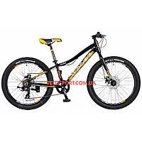 Подростковый велосипед Winner Junior 24 дюйма черно-желтый