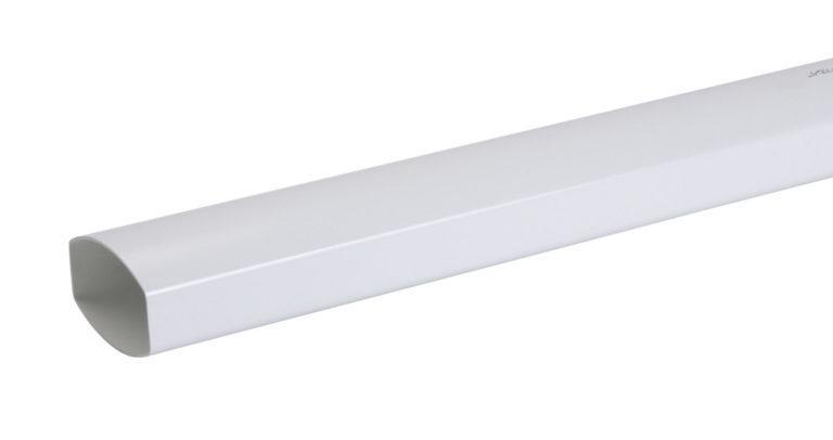 Труба водосточная Nicoll Ovation, прямоугольная D90-56, 4000мм, цвет белый