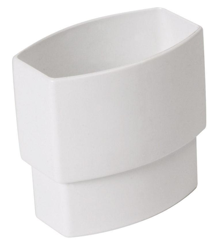 Муфта прямоугольной трубы D90-56 Nicoll, цвет белый
