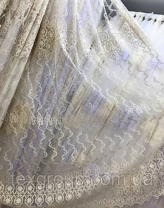 Тюль фатиновая с нежной вышивкой IST-0181, фото 2
