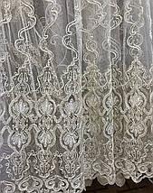 Тюль фатиновая с нежной вышивкой IST-0181, фото 3