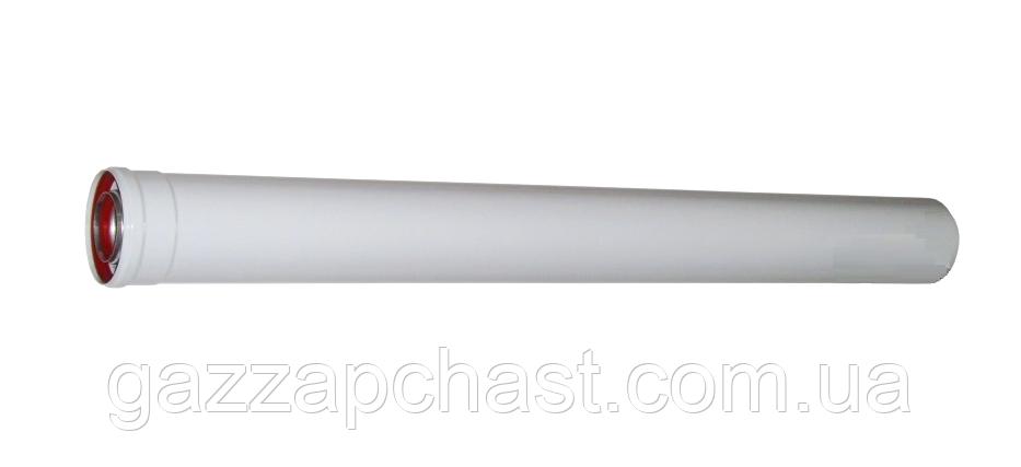 Удлинитель коаксиального дымохода для турбированных котлов 1метр, 60/100 (801004)