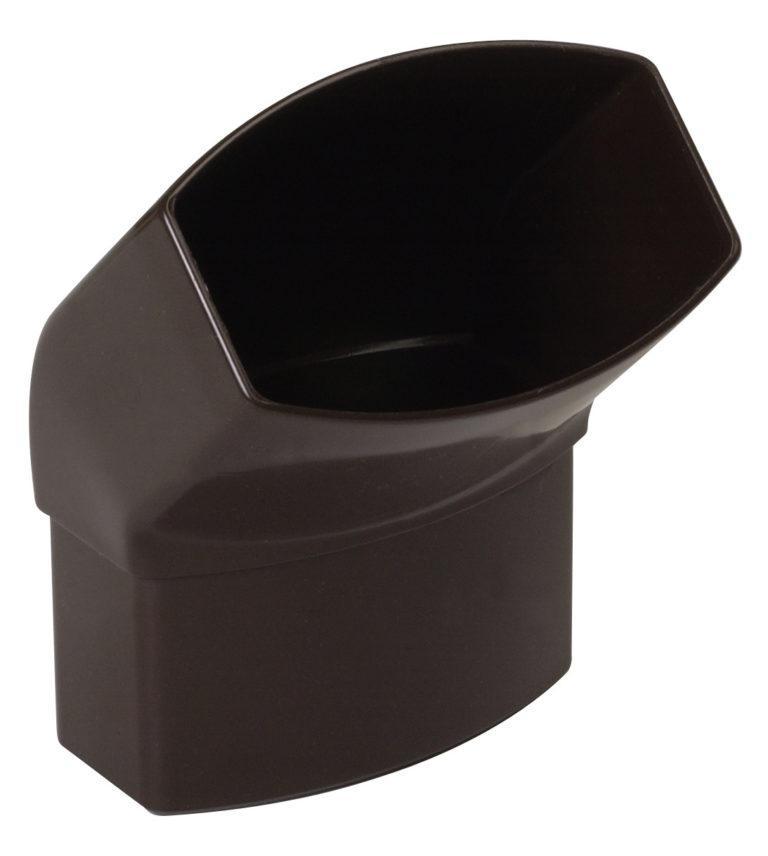 Відвід 67 град. Nicoll, прямокутний D90-56, колір коричневий