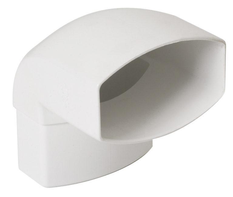 Отвод 87 град. Nicoll, прямоугольный D90-56, цвет белый