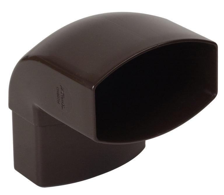 Отвод 87 град. Nicoll, прямоугольный D90-56, цвет коричневый