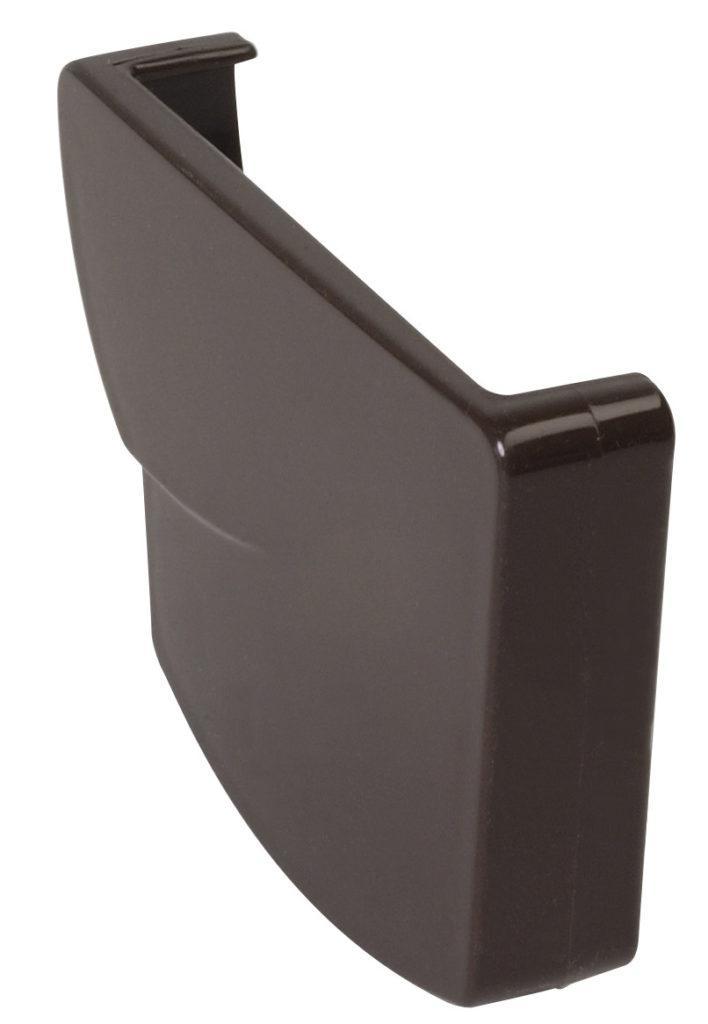 Заглушка жёлоба Nicoll Ovation правая, система 28 Овация, цвет коричневый