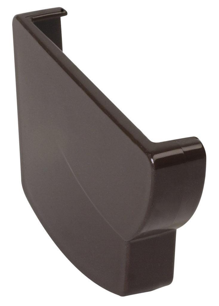 Заглушка жёлоба Nicoll Ovation левая, система 28 Овация, цвет коричневый