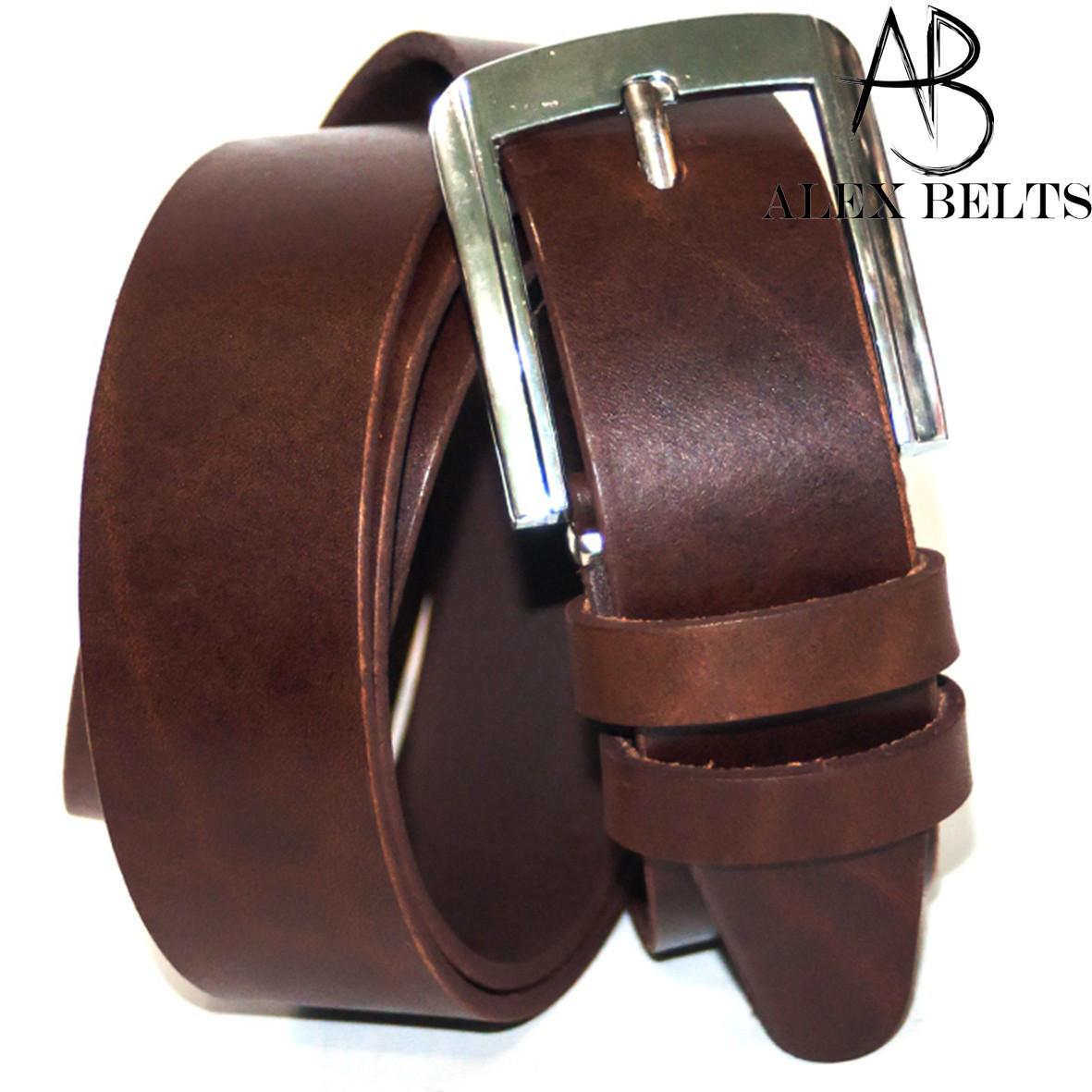 Ремень мужской брючный кожаный гладкий ( Вознесенск ) 35 мм - купить оптом в Одессе
