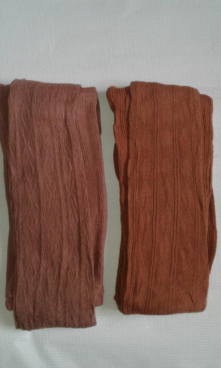Колготки женские трикотажные  коричневые р.50-52. От 4шт по 37грн