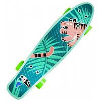 Скейт Пенни борд Fuzion, 56 см, с рисунком, GO Travel LS-P2206