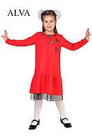 Красивое трикотажное платье  для маленьких принцесс