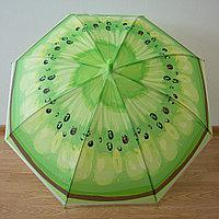 Детский зонт трость полуавтомат (киви)