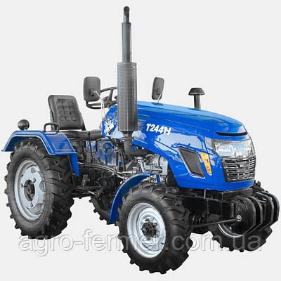 Міні-трактор, Трактор T244НF (24 к. с., 3 циліндра ГУР, KM385, КПП (3+1)х2)
