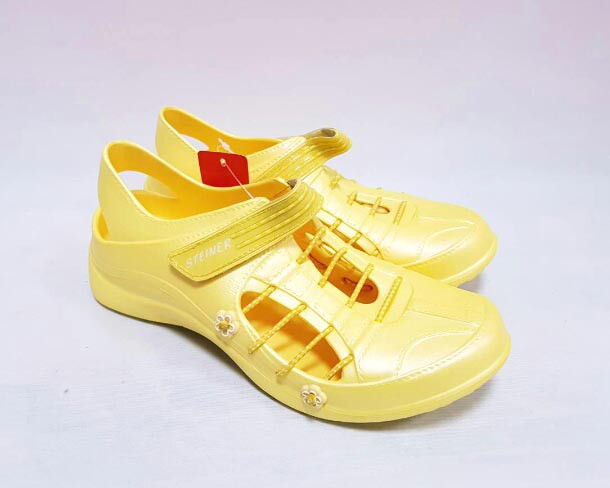 Кроксы-балетки женские жёлтые