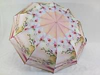 Женский зонт на 9 спиц с орхидеями антиветер