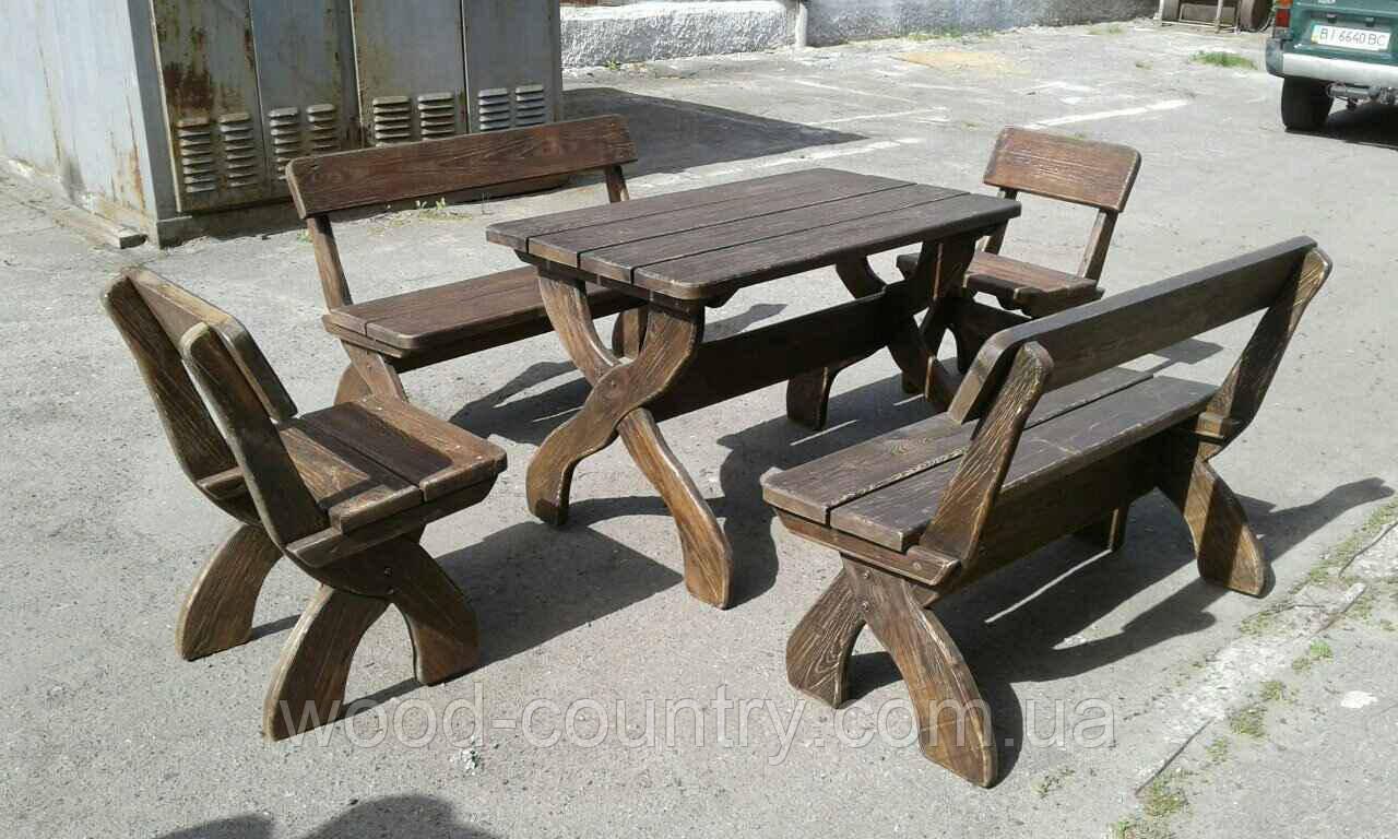 Комплект мебели фигурный сосна крашенный