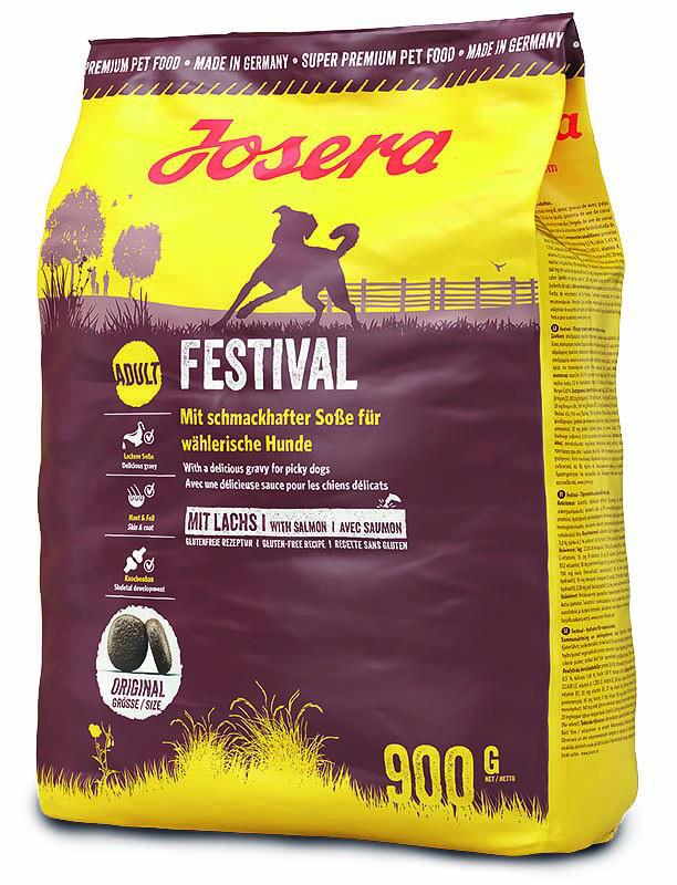 Корм для собак Josera Festival 0,9кг для привередливых с лососем