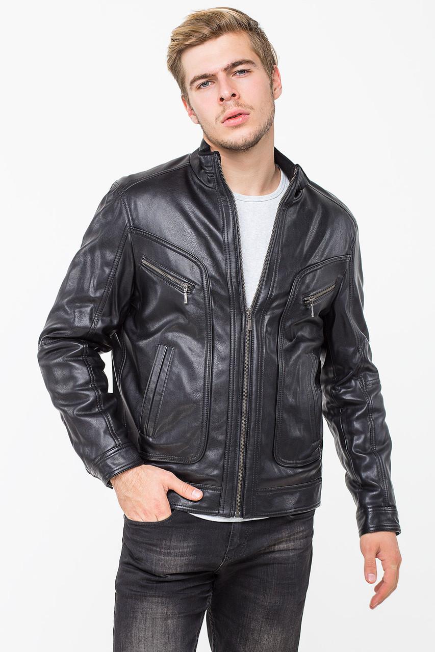 Мужская демисезонная куртка из кожвинила T-KK, 50 размер
