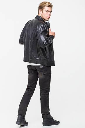Мужская демисезонная куртка из кожвинила T-KK, фото 2