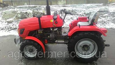 Міні-трактор, Трактор T244HL (24 к. с., 3 циліндра ГУР, KM385, КПП (3+1)х2, блокування диференціала)