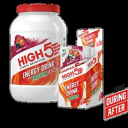 Спортивный энергетический напиток High5 Energy drink with protein, 47г
