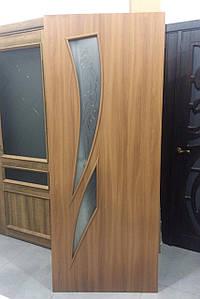 Дверь межкомнатная КАМЕЯ СО СТЕКЛОМ САТИН И РИСУНКОМ Р3 Экошпон