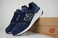 Мужские кроссовки Nеw Balance 999 синие на белой Реплика ТОП качества, фото 1