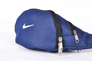 Поясная сумка Бананка Nike, Синяя, Непромокаемый полиэстер