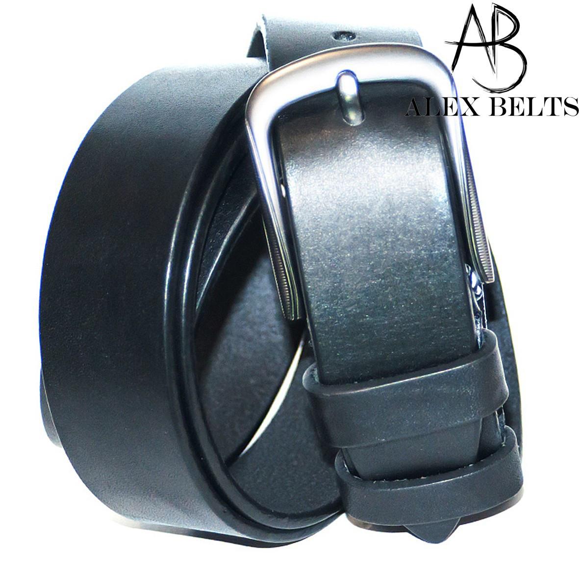 Ремень мужской брючный кожаный гладкий (Вознесенск) 35 мм - купить оптом в Одессе