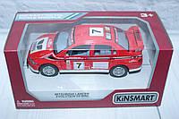Машина металл KINSMART MITSUBISHI LANCER EVOLUTION VII, 16*8*7 см.