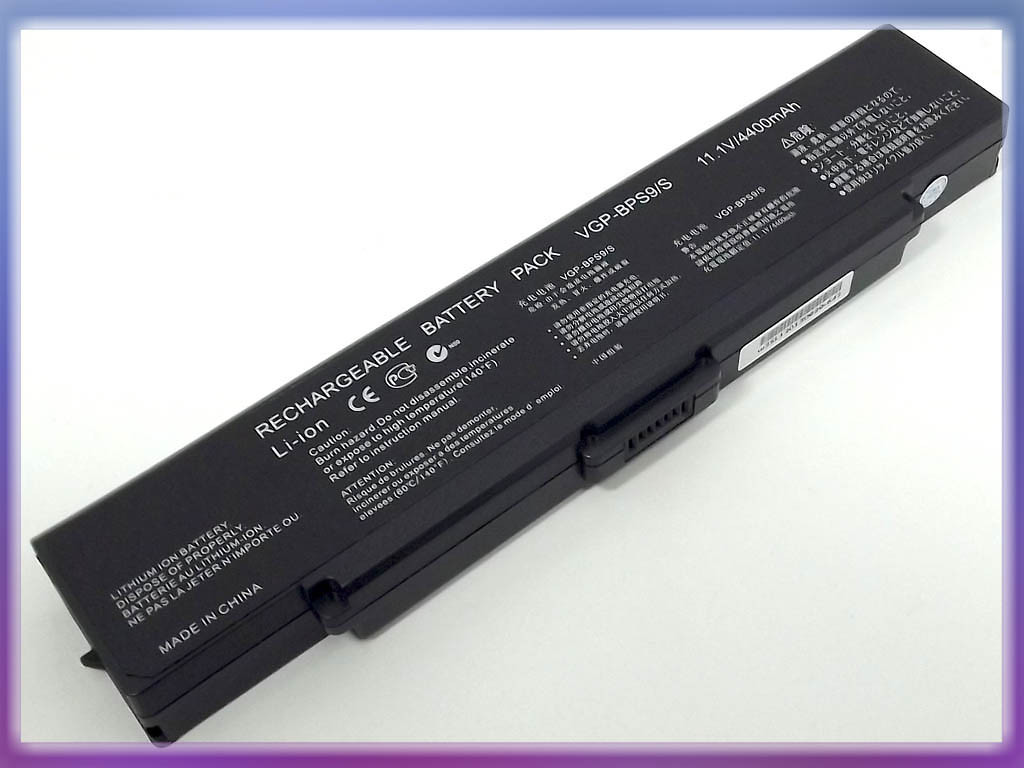 Аккумулятор SONY VAIO (BPS9) VGN-CR VGP-BPL9, VGP-BPS9, VGP-BPS9A/B, V