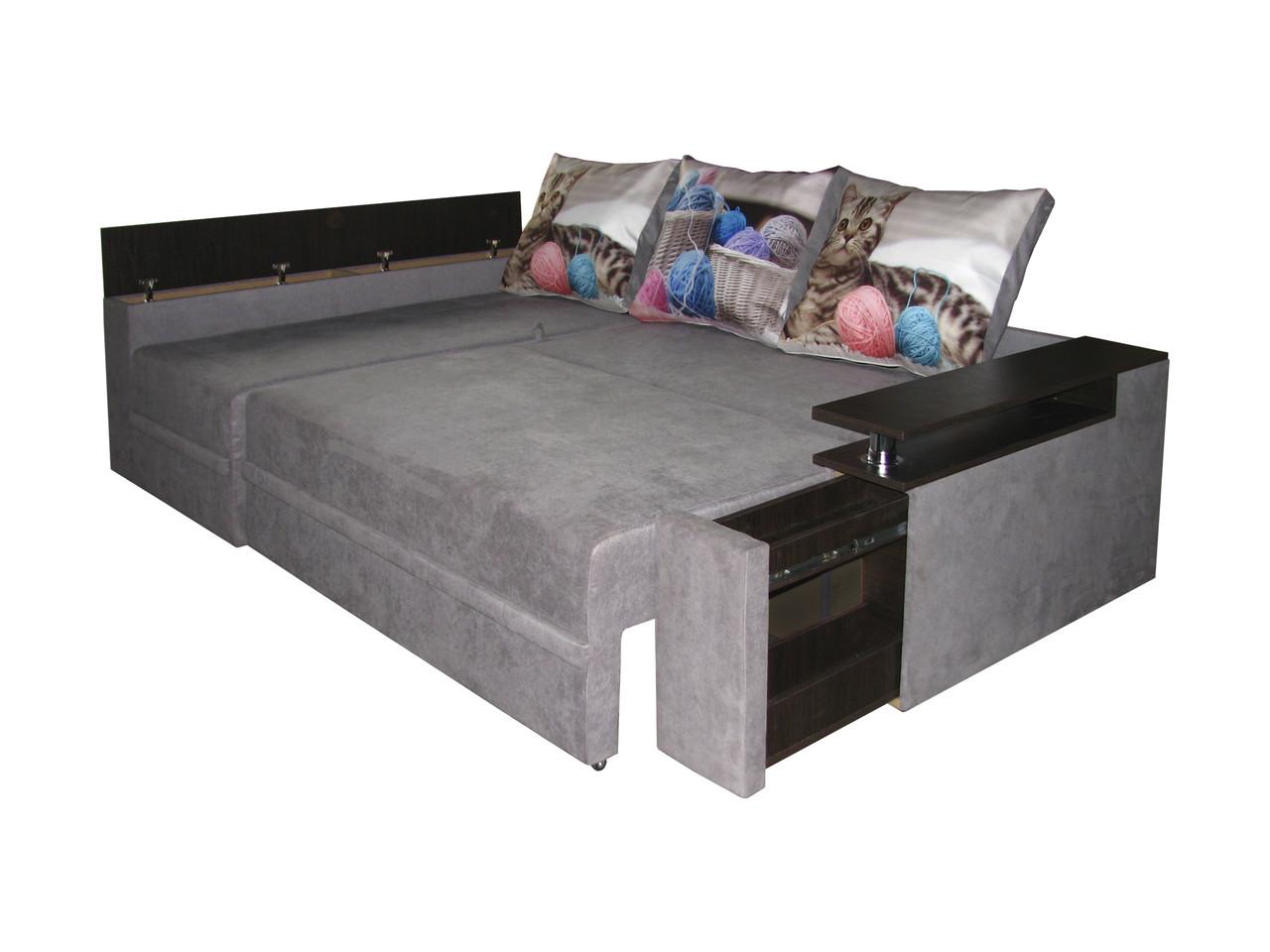 Угловой диван-еврокнижка на пружинном блоке Арго