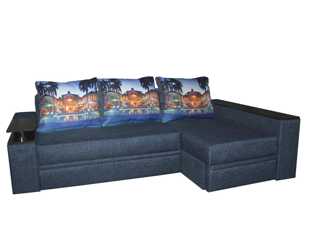 Угловой диван-еврокнижка на ортопедических ламелях Арго