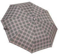 Мужской зонт автомат (серый-клетка)