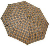 Мужской зонт автомат (хаки-клетка)