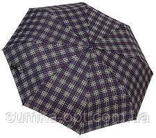 Мужской зонт автомат (черный-клетка)