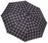 Мужской зонт автомат (черный-клетка), фото 1