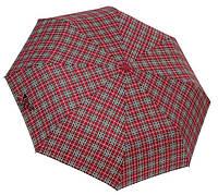 Мужской зонт автомат (бордо-клетка), фото 1